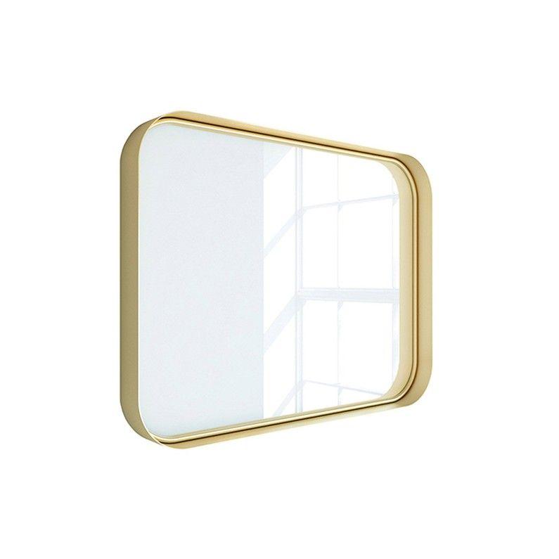 Miroir Non Lumineux Encadre L 80 X H 60 Cm Or Brillant Randal Kende Leroy Merlin Miroir Lumineux Miroir Rectangulaire