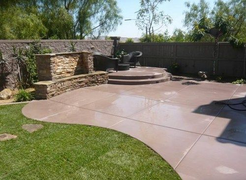 colored concrete concrete patio quality living landscapes san