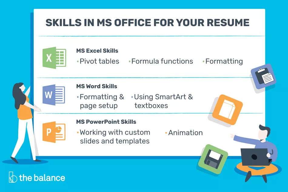 Microsoft Office Skills For Resumes Cover Letters In 2020 Resume Skills Cover Letter For Resume Word Skills