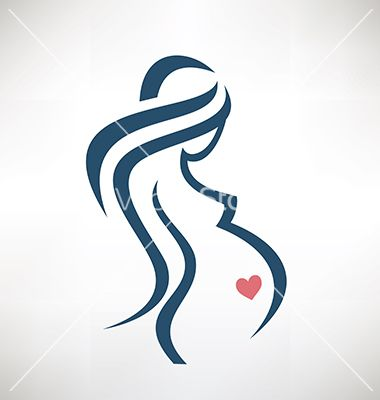 pregnant woman symbol stylized sketch vector on. Black Bedroom Furniture Sets. Home Design Ideas