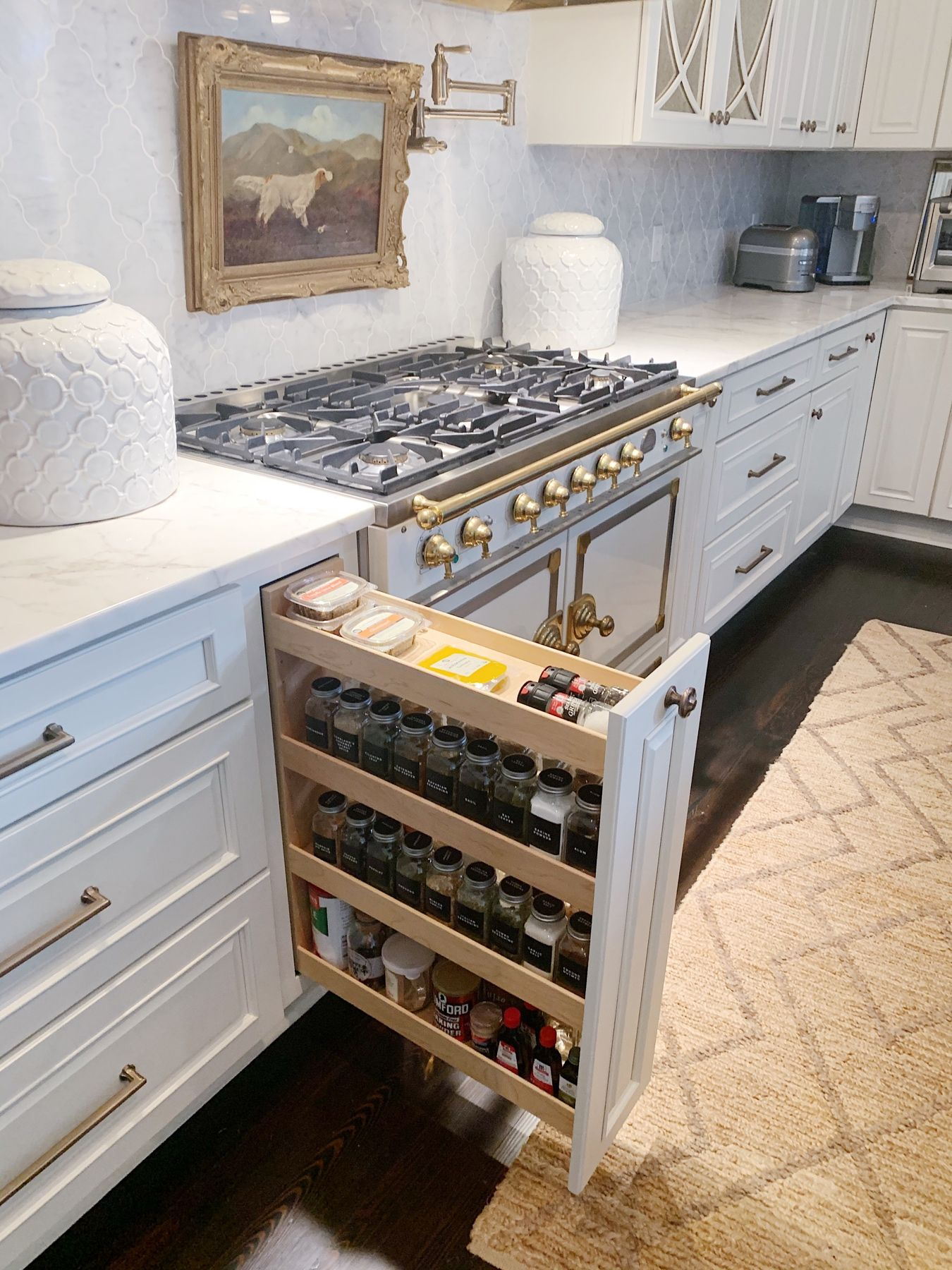 Spice Drawer Pull Out In 2020 White Kitchen Design Kitchen Inspirations Kitchen Innovation
