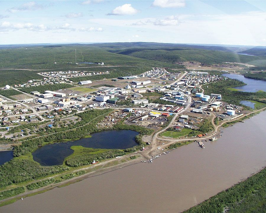 Inuvik yukon canada situated on the east arm of the for Yukon bureau of statistics