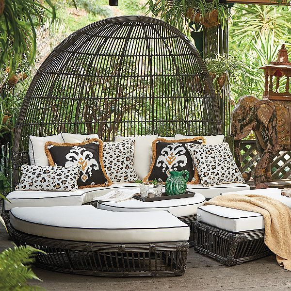 Banzai Daybed | Outdoor daybed, Outdoor furniture, Canopy ... on Living Spaces Outdoor Daybed id=11570
