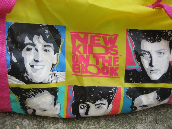 New Kids on the Block Vintage 1980 s Duffle Bag by rudysroundup ... 34d8d97e59379