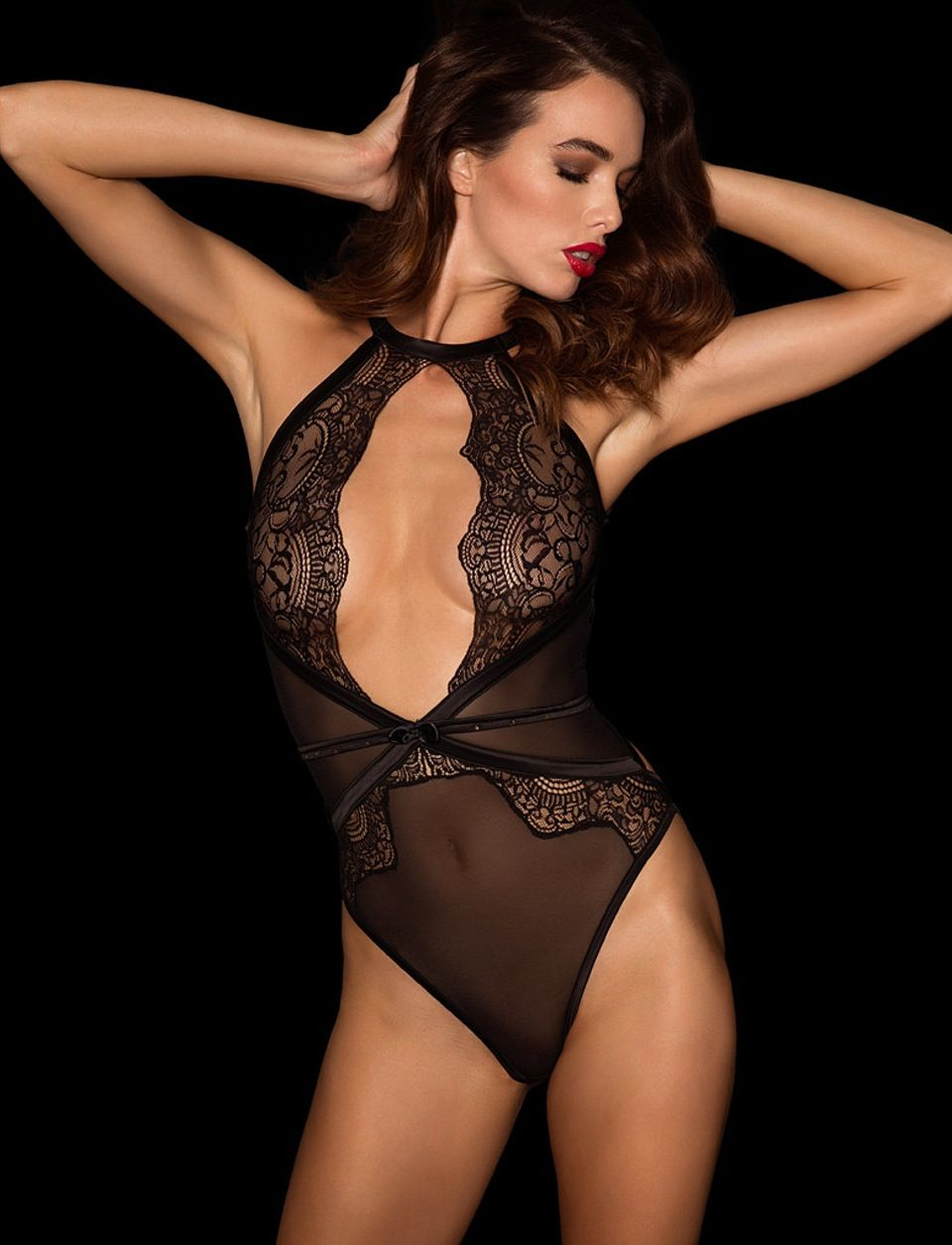 f523b7d864d Honey Birdette - Luna Sheer Lace Playsuit