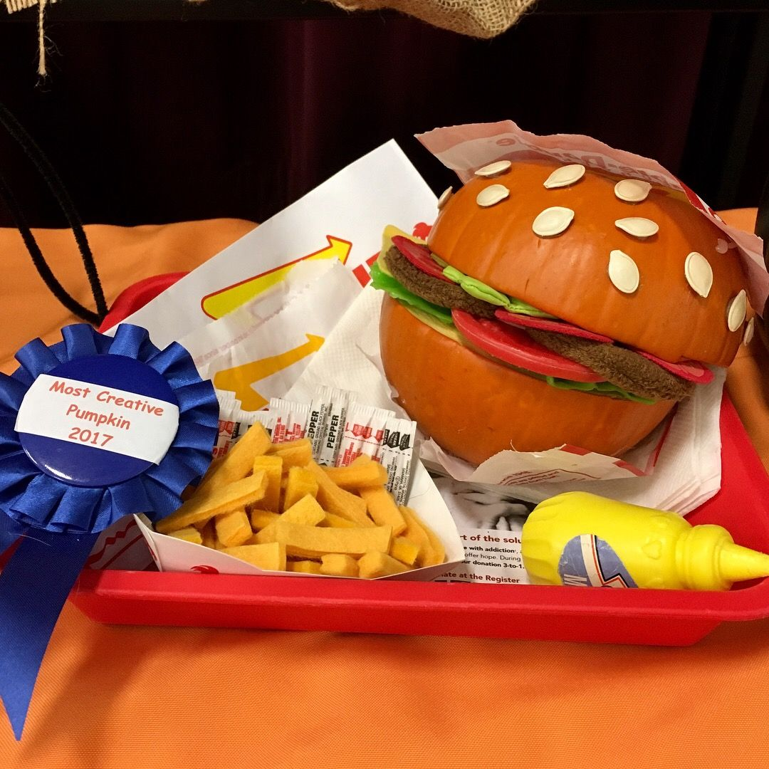 Pumpkin Contest Winner In & Out Burger and Fries