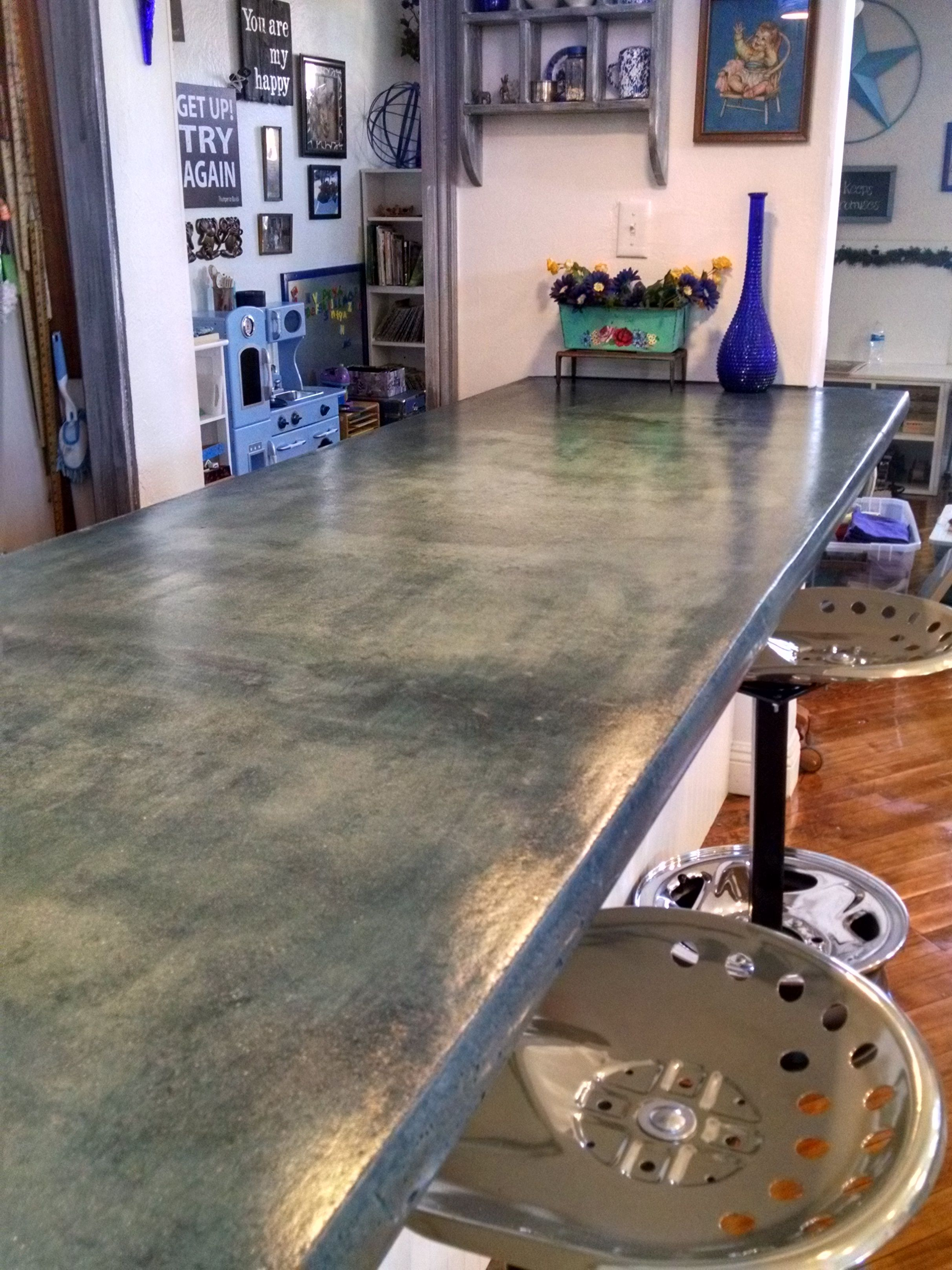 Industrial Look Stain On A Concrete Countertop Stained Concrete