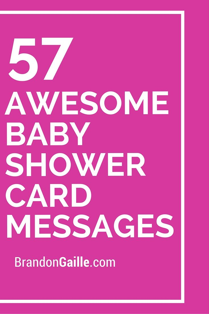 Elegant 57 Awesome Baby Shower Card Messages