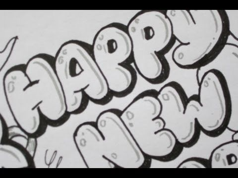 How to draw happy new year in bubble letters make your mark how to draw happy new year in bubble letters expocarfo