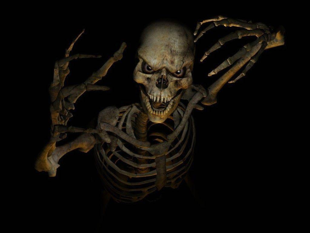 Dark Skeleton Hd ,D And Dark Horror Wallpaper For Your
