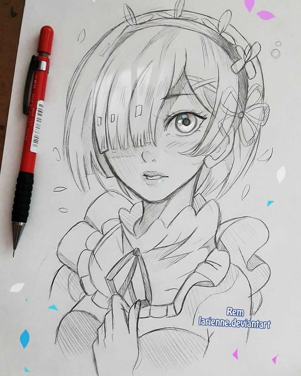 Lärienne on instagram anyone here knows rem a small evening sketch larienne deviantart com