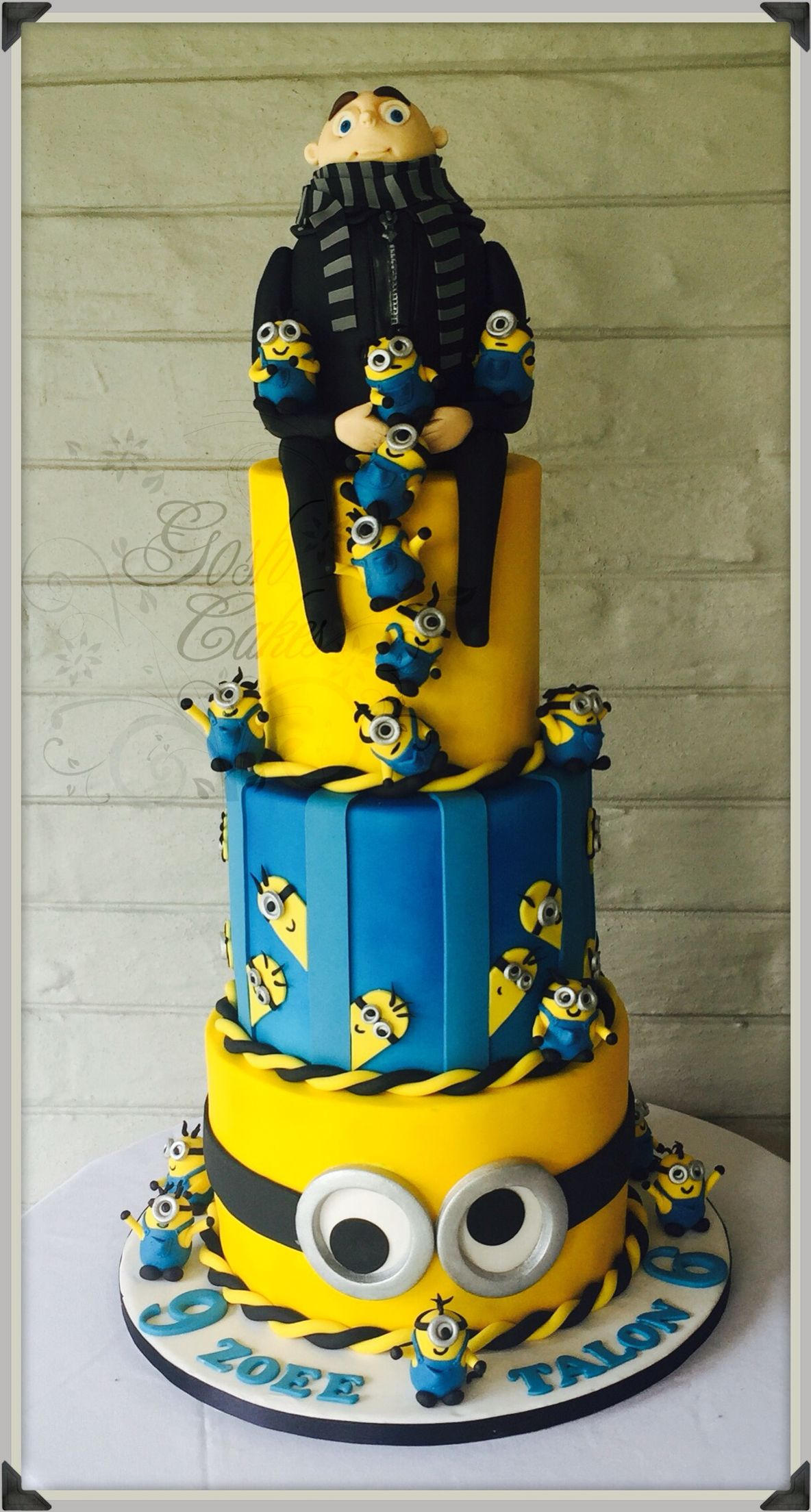 Despicable Me Cake Minions Cake Gru Cake With Images