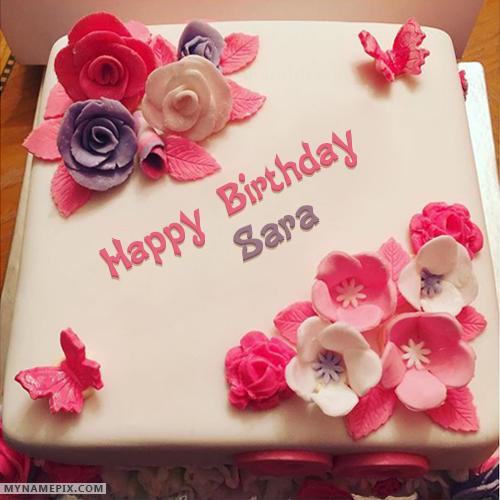 Enjoyable The Name Sara Is Generated On Beautiful Birthday Cake For Girls Birthday Cards Printable Giouspongecafe Filternl