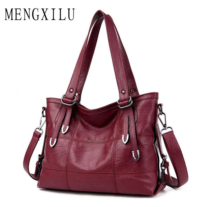 6652eb2cb2fd Luxury Handbags Women Bags Designer Plaid Women's Leather Handbags ...