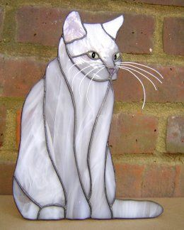 Cat Stained Glass