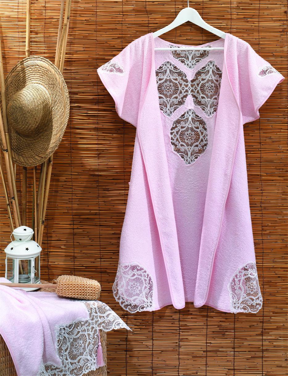 5 Adet Bayan Bornoz Lase Nakisli 1 Adet Bayan Havlu 50x90 Cm Lase Nakisli Kimono Top Fashion Tunic Tops