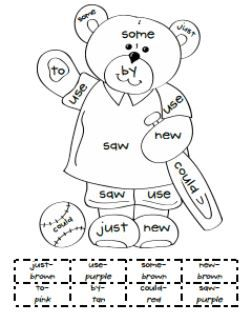 FREE Read and Color with Sight Words: great for centers