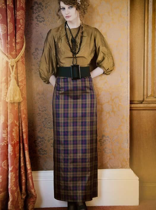 Gabriela Hearst Amy Pleated Tartan Cashmere And Silk Blend Skirt