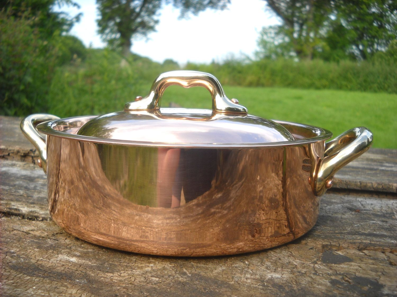 Vintage HOWARD Made In France Copper Skillet Pan