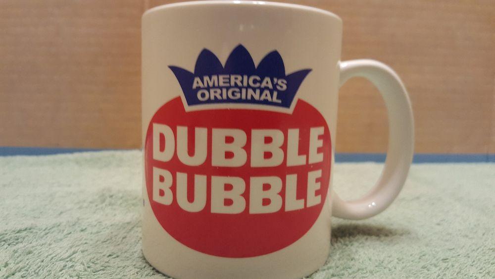 DUBBLE BUBBLE MUG Cup Coffee Bubble Gum America's Original Double, Advertising #DUBBLEBUBBLE