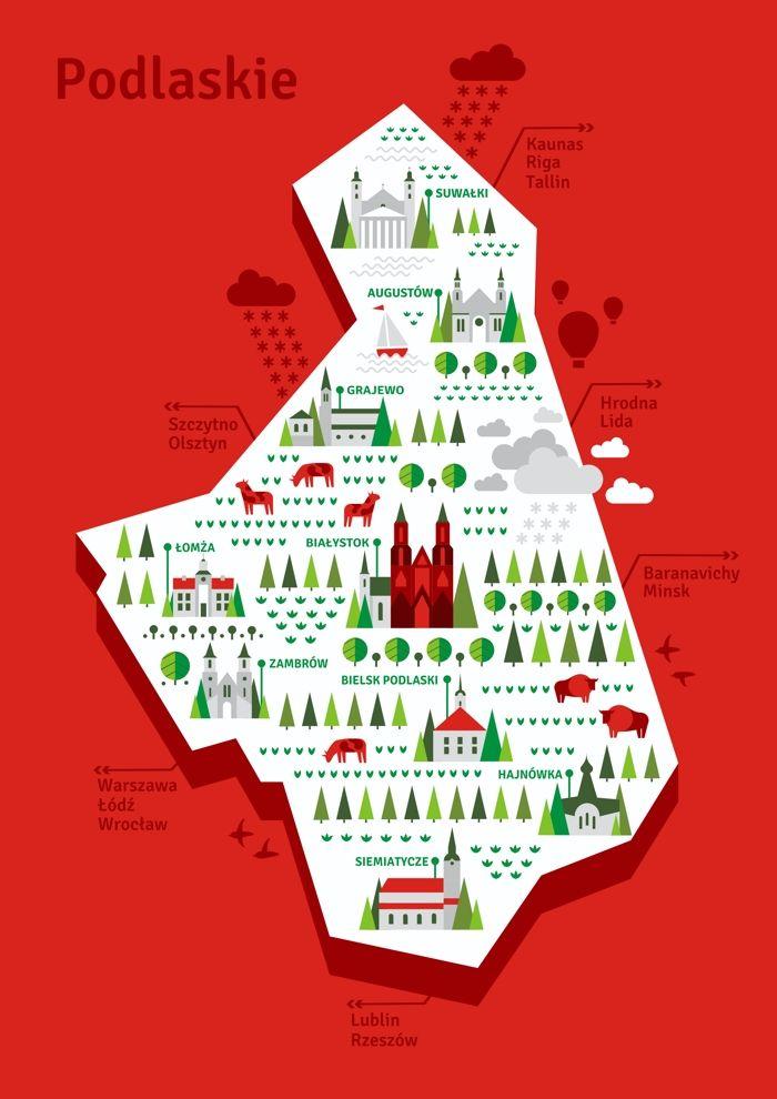 Piotr Mrh Vector map illustration