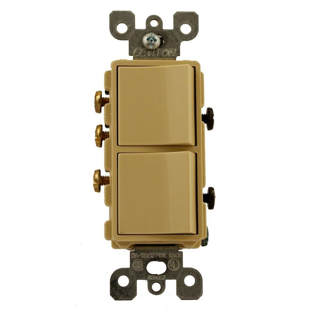 Leviton 15 Amp Decora Commercial Grade Combination Single