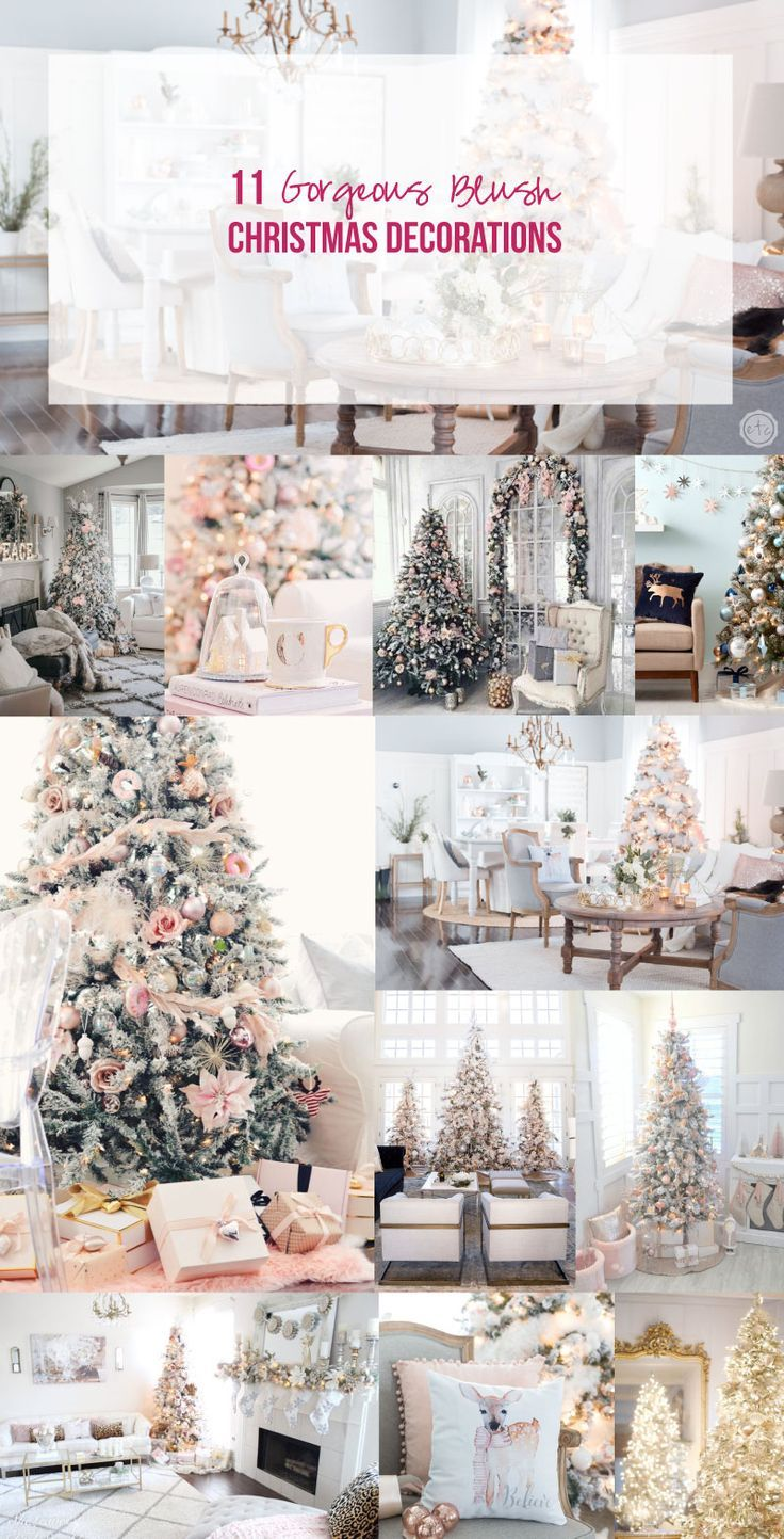 11 gorgeous blush christmas decorations youll love - Blush Christmas Decorations