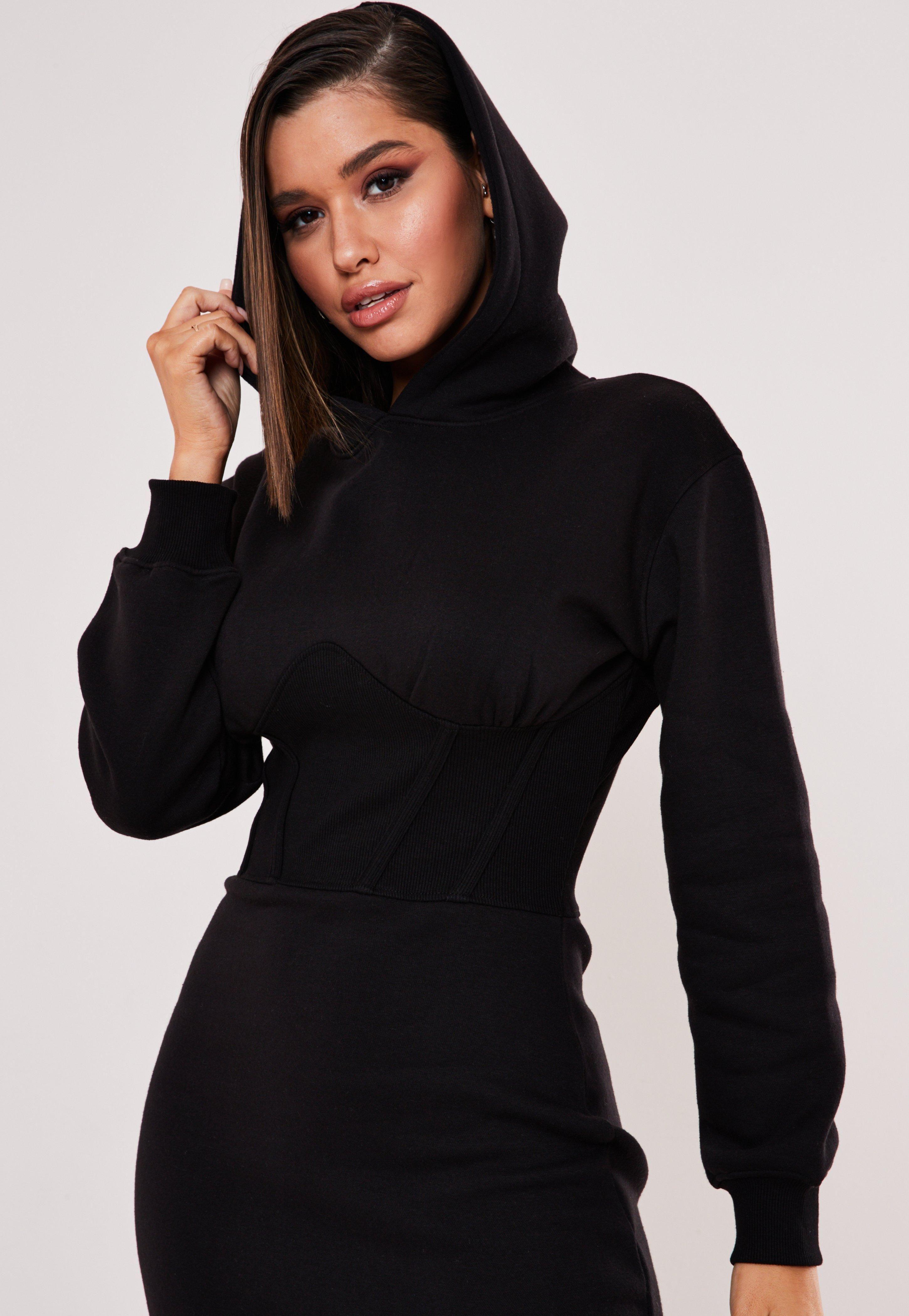 Black Corset Hooded Sweater Dress Sponsored Corset Aff Black Hooded Trending Dresses Hooded Sweater Dress Long Sleeve Sweater Dress [ 4200 x 2900 Pixel ]