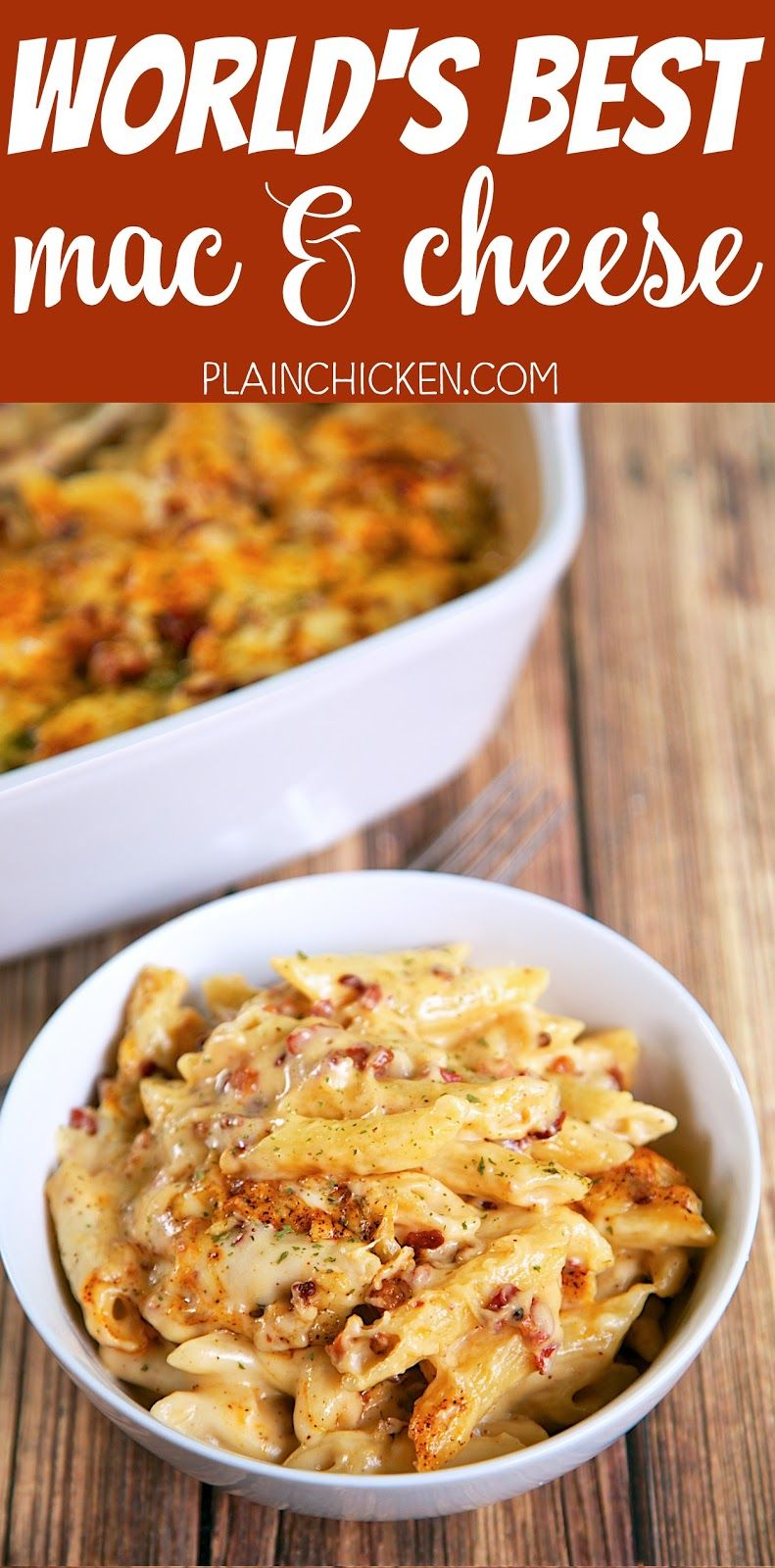 World's Best Mac and Cheese - so creamy, cheese and delicious! Just like the