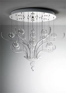 Murano chandelier Modern chandelier Fabbian Spirito di