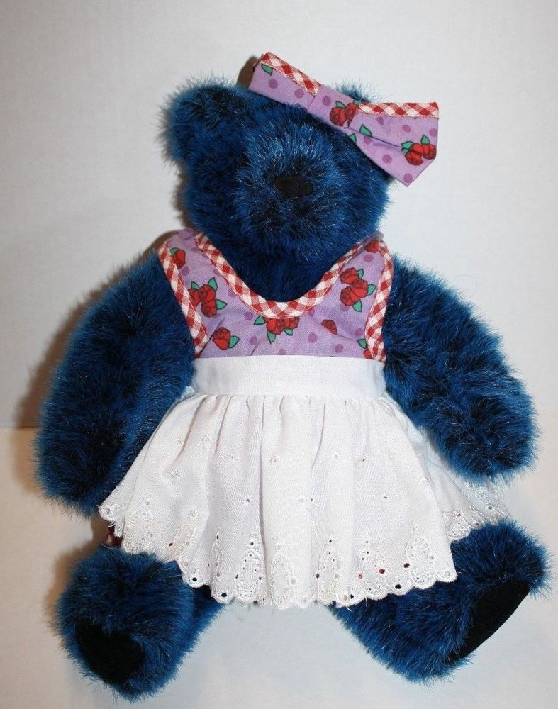 "Zany Brainy TEDDY BEAR 13"" Vermont Rose Dress Eyelet Apron"