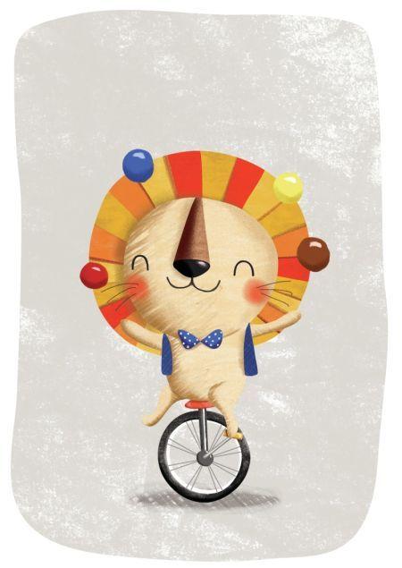 Gina Lorena Maldonado - Circus - Lion In Monocycle - GM