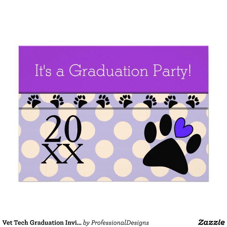 Vet Tech Graduation Invitations Purplezazzle – Zazzle Graduation Invitations
