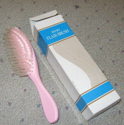 Pink Avon Brush My Mom Used This For Years To Put Hair Into
