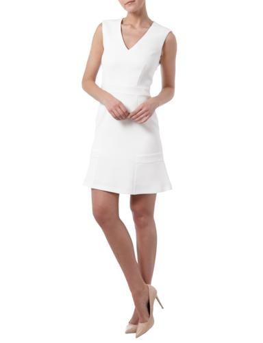 SET Kleid mit V-Ausschnitt und Taillenpasse in Weiß online entdecken  (9526428)   a42cf8d2e3