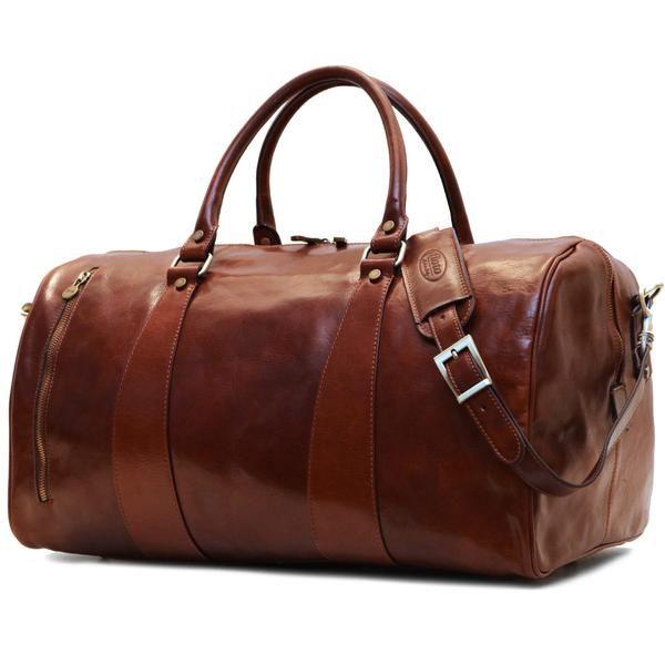 63a4ff9ca8b6 Super Tuscan Leather Duffle Bag Floto  1