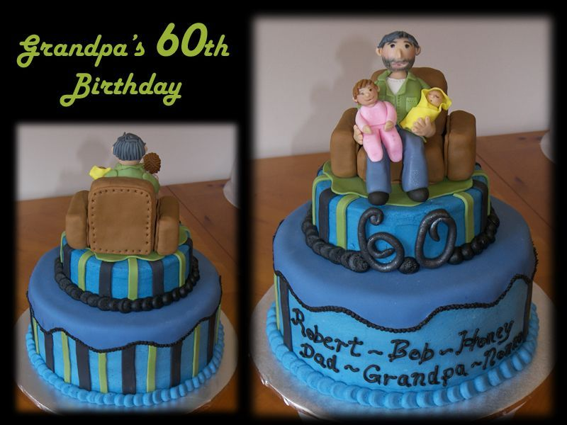 Birthday Cake For Grand Father Grandpa S 60th Birthday