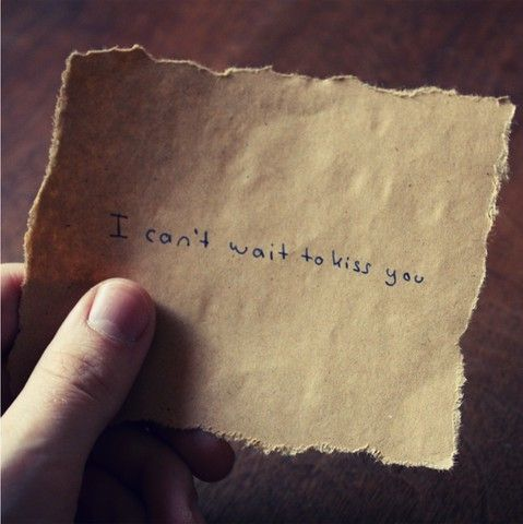 """Love Note like """"I can't wait to kiss you"""" before walking down the aisle"""