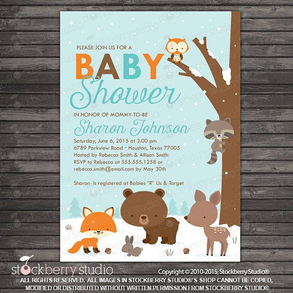 graphic about Free Printable Woodland Baby Shower Invitations titled Pin via Boardman Printing upon Oh Boy or girl! inside 2019 Printable