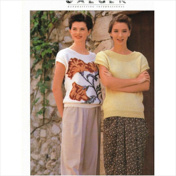 Jaeger Double Knit Knitting Pattern For Ladys Top 32 42 Places