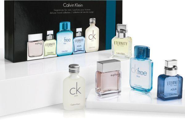 Piece Fragrance Miniature Set MenPerfume For 5 Gift Klein Calvin n0wPkO