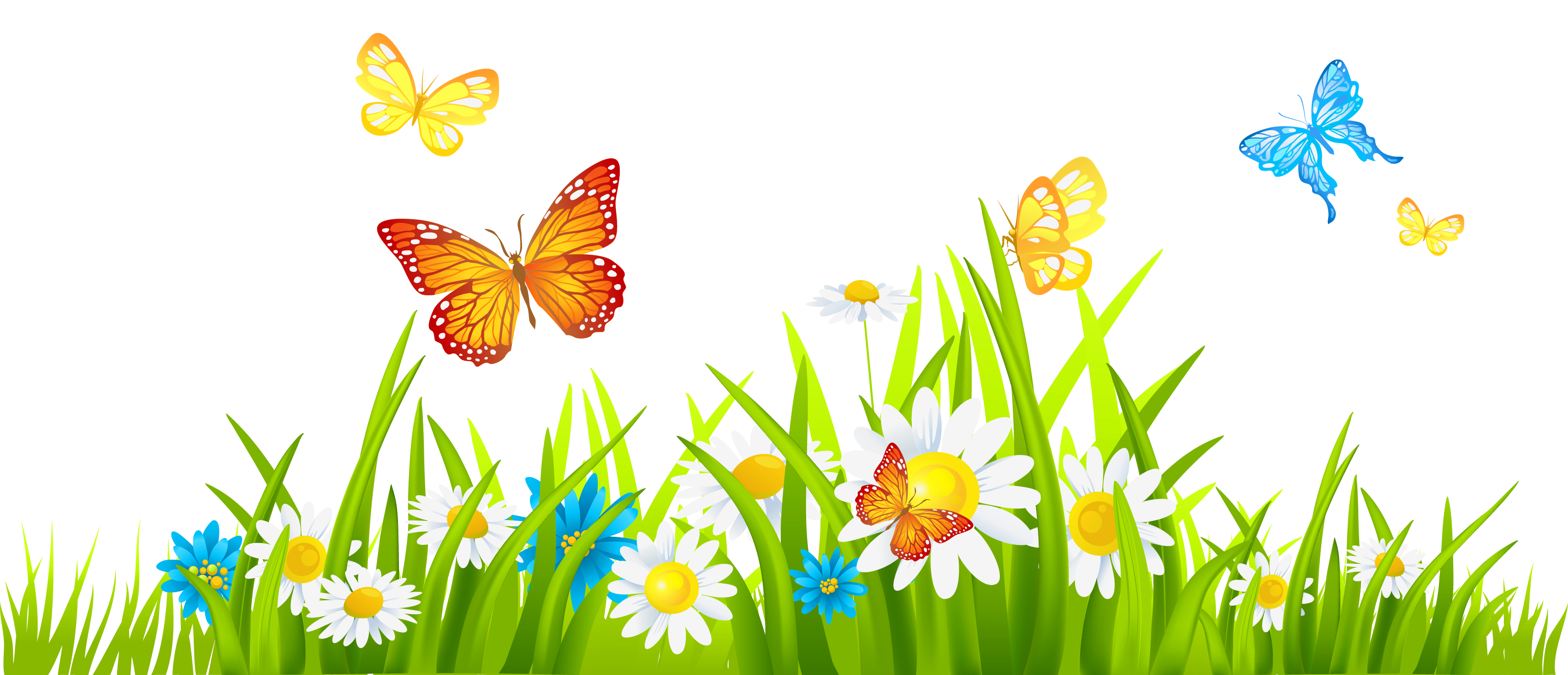 grass and flowers border. Contemporary Flowers Grass Ground With Flowers And Butterflies PNG Clipart For And Border L