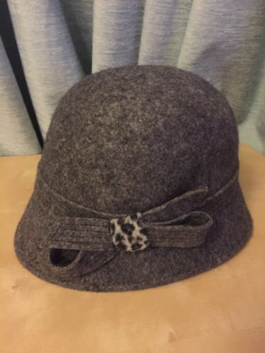 M\s downton #abbey #1920s style grey felt cloche hat size m l - branding consultant sample resume