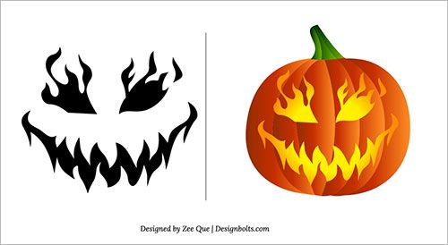 Pumpkin Carving Ideas Free Scary Patterns