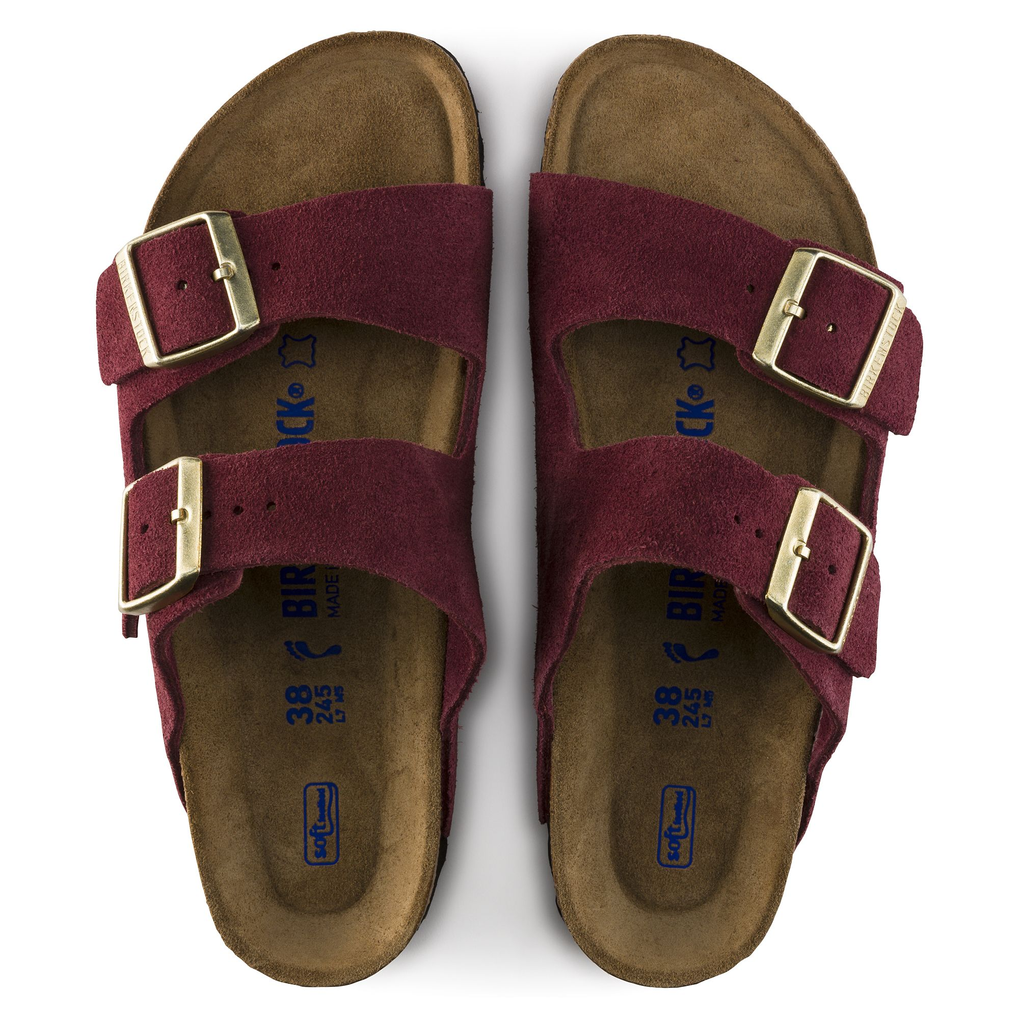 55d8881c3c6 Arizona Suede Leather Soft footbed Burgundy