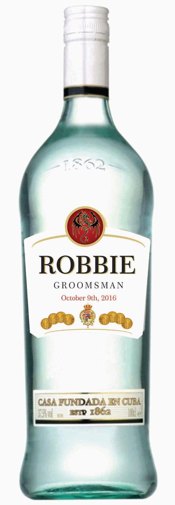 Personalized Rum Labels (Wedding Gift) | Rum, Liquor and Unique ...