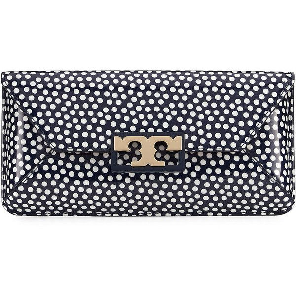 e9ce2be450d7 Tory Burch Gigi Patent Clutch Bag ( 275) ❤ liked on Polyvore featuring bags