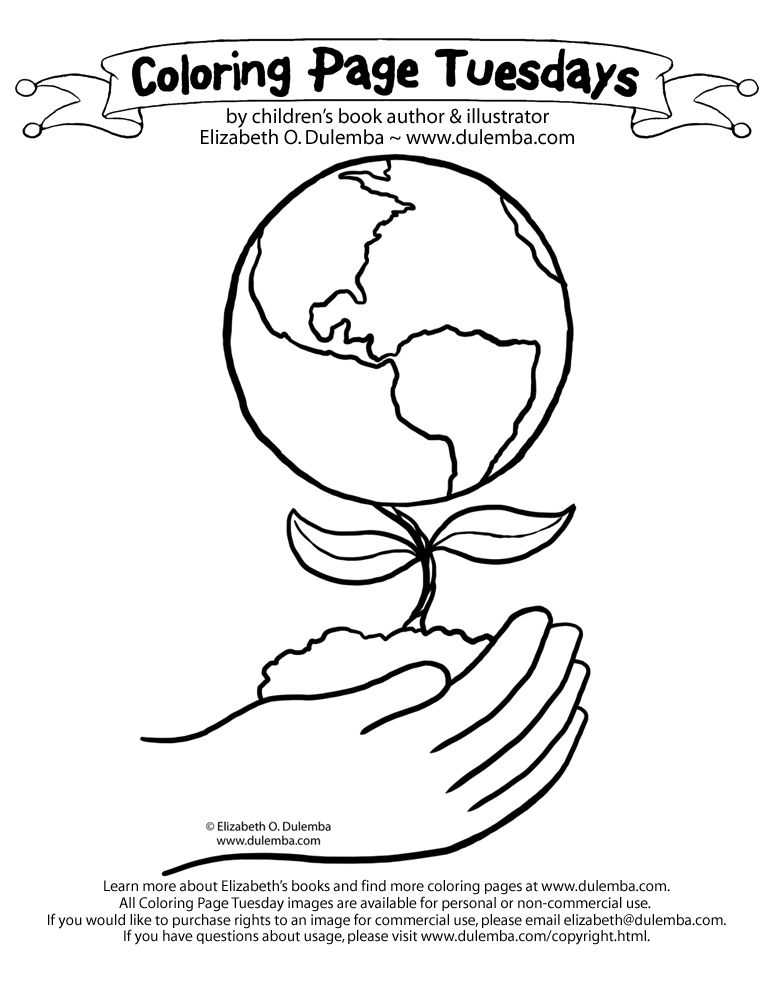 Coloring Page Tuesday Earth Day 2010 Earth Day Coloring Pages