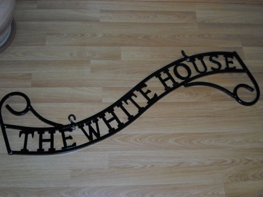 Bespoke Scrolled Wrought Iron House Plaques Available Ckmetalcraft Co Uk
