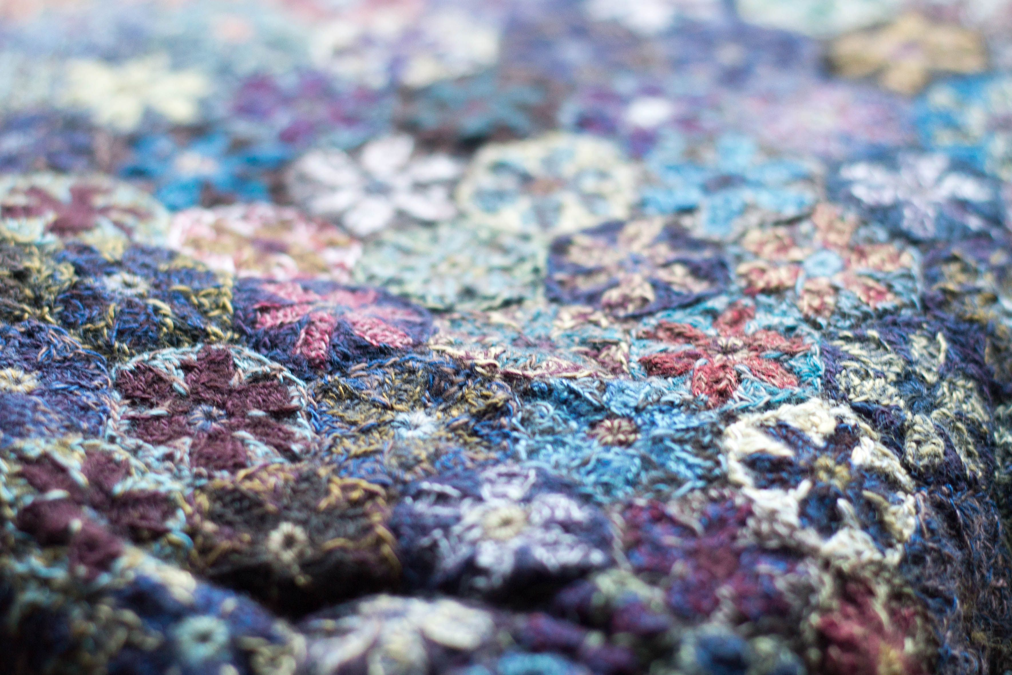 Scarf design by Sophie Digard. All pieces are hand-crocheted or hand ...